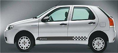 Kit Adesivo faixa lateral tuning Fiat Pálio G1 G2 G3 4 portas modelo Pálio H SRT