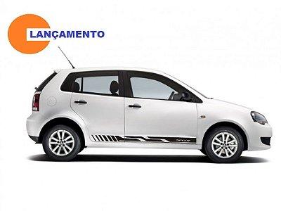 Kit Adesivo faixa lateral esportiva tuning VW Polo G1 e G2 modelo VP1 Sport