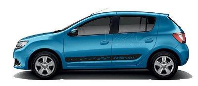 Kit Acessórios Peças Adesivo lateral Renault Novo Sandero modelo R Sport Fita Colante SRT