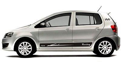 Adesivo faixa lateral tuning VW FOX 2 E 4 portas modelo Racing todos os anos SRT