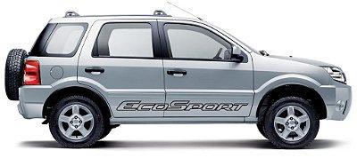Adesivo faixa lateral tuning Ford EcoSport antiga modelo ECOSPORT VAZADA Fita SRT