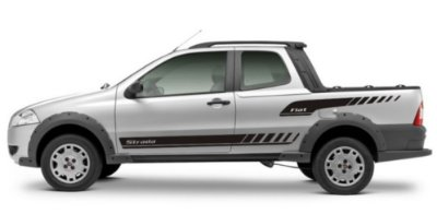 Faixa Lateral Fiat Strada St1 Adesivos Sport Acessório Fita Colante Srt Wolf 1