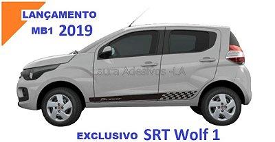 Faixa Lateral Fiat Mobi MB1 Adesivos Sport Acessório Fita Colante Srt Wolf 1
