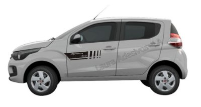 Faixa Lateral Fiat Mobi MB3 Adesivos Sport Acessório Fita Colante Srt Wolf 1
