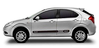 Kit Adesivo faixa lateral tuning para carro JAC J3 hatch e sedan modelo SPORT peças acessórios x11auto