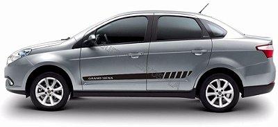 Adesivo Faixa Lateral Fiat Grand Siena GS3 Fita Colante Acessórios SRT Wolf 1