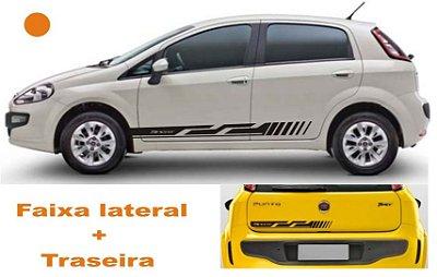 Adesivo Faixa Lateral Fiat Punto FP4 + Traseira Fita Colante Acessórios SRT Wolf 1