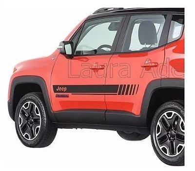Jeep Renegade Modelo JR2 Kit Faixa lateral adesiva tuning peças acessórios Fita Colante SRT Wolf 1
