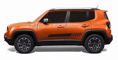 Jeep Renegade Kit Adesivo JR1 Faixa Lateral Fita Colante Tuning Acessórios SRT Wolf 1