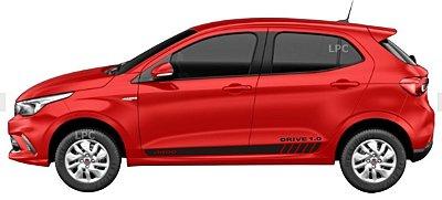 Argo Drive e GSR 1.0 1.3 Faixa Lateral DR1 Adesivo Para Carro Fita Colante Acessórios SRT Wolf 1
