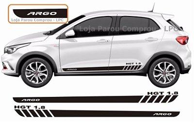 Argo Hgt 1.8 Faixa Lateral Acessórios  Adesivo Para Carro Fita Colante SRT Wolf 1 X11Auto