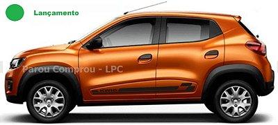 Kwid Renault Adesivo Lateral KW2 Faixa Fita Colante Acessórios SRT Wolf 1 X11Auto