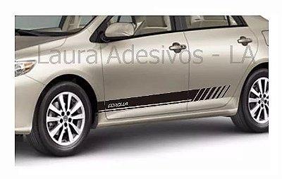 Corolla Toyota Faixa lateral TC2 adesivo tuning Acessórios Fita Colante SRT Wolf 1