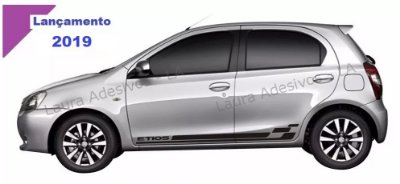 Etios Toyota Kit Faixa lateral ET3 adesiva tuning  acessórios Fita Colante SRT Wolf 1