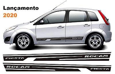 Kit Faixa lateral adesiva tuning para Fiesta G2 modelo Fiesta Quadriculado peças acesórios Fita Colante SRT Wolf 1