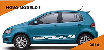 Adesivo faixa lateral VW Novo FOX 2 E 4 portas modelo SPORT Fita Colante SRT