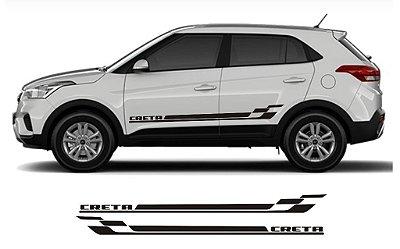 Adesivo Lateral Hyundai Creta CR1 Faixa Fita Colante SRT Wolf 1