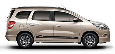 Kit adesivo faixa lateral tuning Chevrolet Spin  Modelo Spin SRT