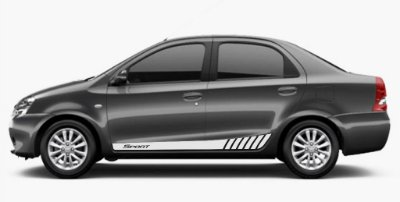 Kit Faixa lateral adesiva tuning para Toyota Etios SEDAN modelo Sport Acessórios Fita Colante SRT Wolf 1