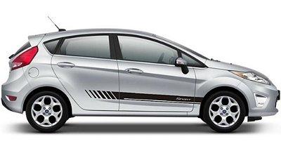 Kit Faixa lateral adesiva para Ford New Fiesta hatch e sedan modelo 2 Sport listrada Fita Coloante SRT Wolf 1