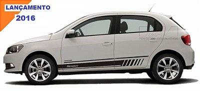 Adesivo Gol G5 G6 modelo GS2 Sport 4 portas VW faixa lateral Fita Colante SRT