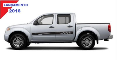 Kit Adesivo Nissan Frontier Fr5 Pick-up Td Cd Sl cabine dupla Acessórios Fita Colante SRT Wolf 1