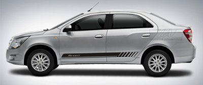 Kit adesivo Chevrolet Cobalt modelo Sport listra