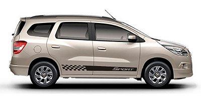 Kit adesivo faixa lateral Chevrolet Spin modelo SP5 Sport