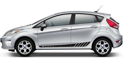 Kit Faixa lateral adesiva para Ford New Fiesta hatch e sedan modelo Sport Acessórios Fita Colante SRT Wolf 1