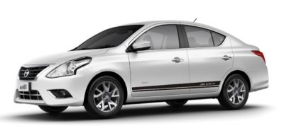 Kit Adesivo lateral para Versa Nissan modelo Sport lisa