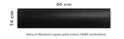Kit Adesivo Blackout 2 Tiras 14 X 60 Cm Rugoso para coluna de carros vários modelos