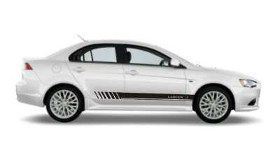 Adesivo lateral para Lancer Mitsubishi modelo ML2 Faixa Fita Colante SRT