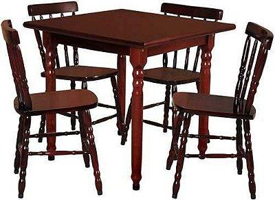 Conjunto De Mesa C/4 Cadeiras