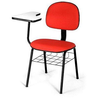 Cadeira Fixa 04 Pés Com Prancheta Universitária C/Cesto