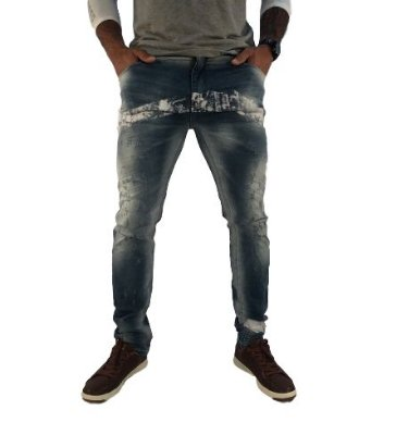 Calça Masculina Skinny Diferenciada