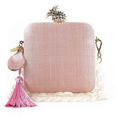 Bolsa Clutch Feminina Pequena Corrente Festa Casamento Luxo