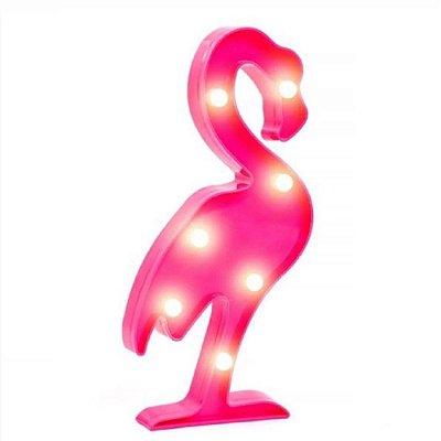 Decoração Enfeite Festa Luminária Led Abajur Flamingo Rosa