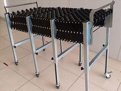 Modelo Rodízio - Esteira Flexível Transportadora