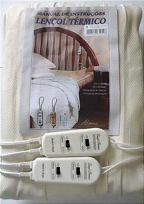 Lençol Térmico Casal 220 V Super Luxo Alamo Alto Acabamento Maior Garantia