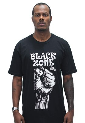T SHIRT BLACK ZONE MOVEMENTS RAP