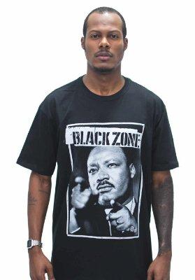 T SHIRT BLACK ZONE MARTIN LUTHER KING