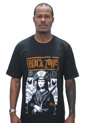 T SHIRT BLACK ZONE MONA LISA CANGACEIRA