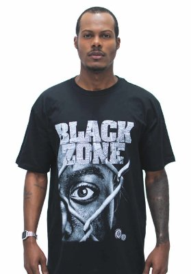T SHIRT BLACK ZONE HIP HOP PRISIONEIRO