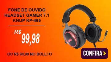 Headset Gamer Fone De Ouvido 7.1 KP-465