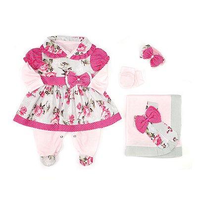 Saída Maternidade Charmosa Pink 5 Peças