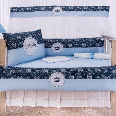 Kit Berço Luxo Príncipe Azul 10 Peças