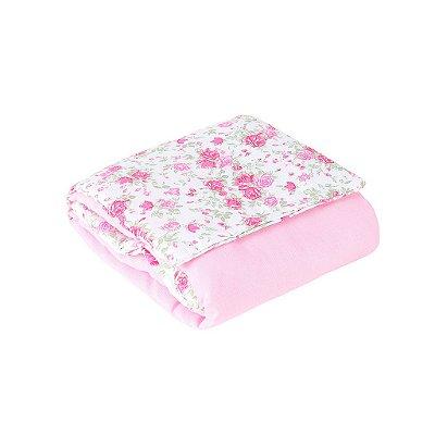 Trocador Portátil Plastificado Bailarina Floral Rosa 1 Peça