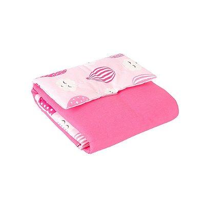 Trocador Portátil Plastificado Balone Rosa 1Peça