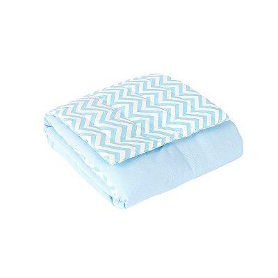 Trocador Portátil Plastificado Zig Zag Azul Bebê 1 Peça