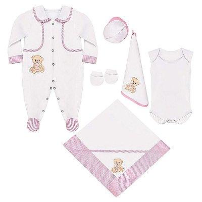 Saída Maternidade Ursa Charme 6 Peças